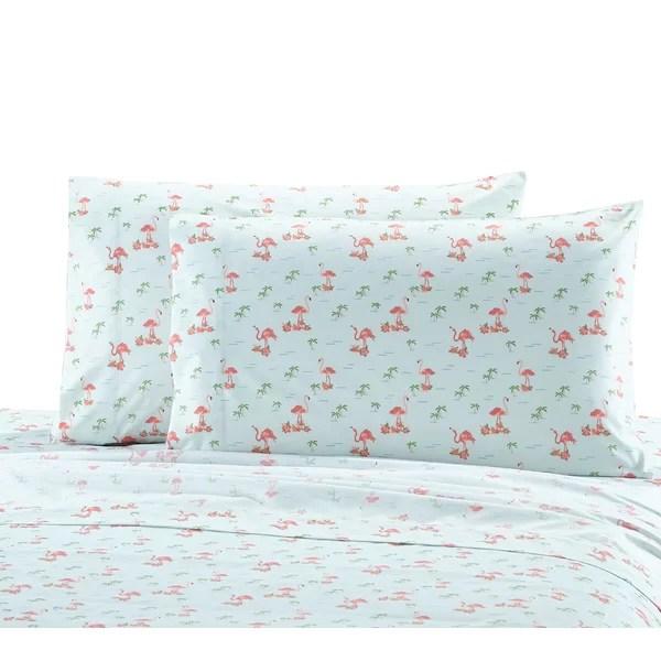flamingo pillowcase