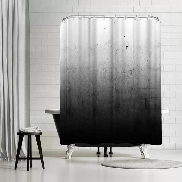 emanuela carratoni black ombre single shower curtain