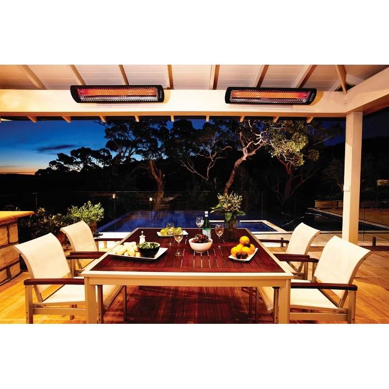 tungsten 6000 watt electric ceiling mounted patio heater