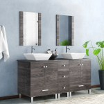Orren Ellis Barbonne 60 Double Bathroom Vanity With Mirror Reviews