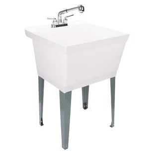 22 88 l x 23 5 w free standing laundry sink with faucet