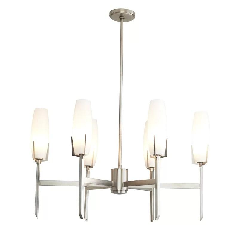 keifer 6 light sputnik modern linear chandelier