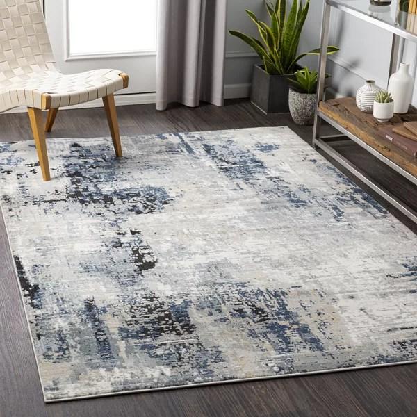 tapis bleu marine gris a metier electrique rizzi
