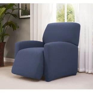 checkerboard large box cushion recliner slipcover