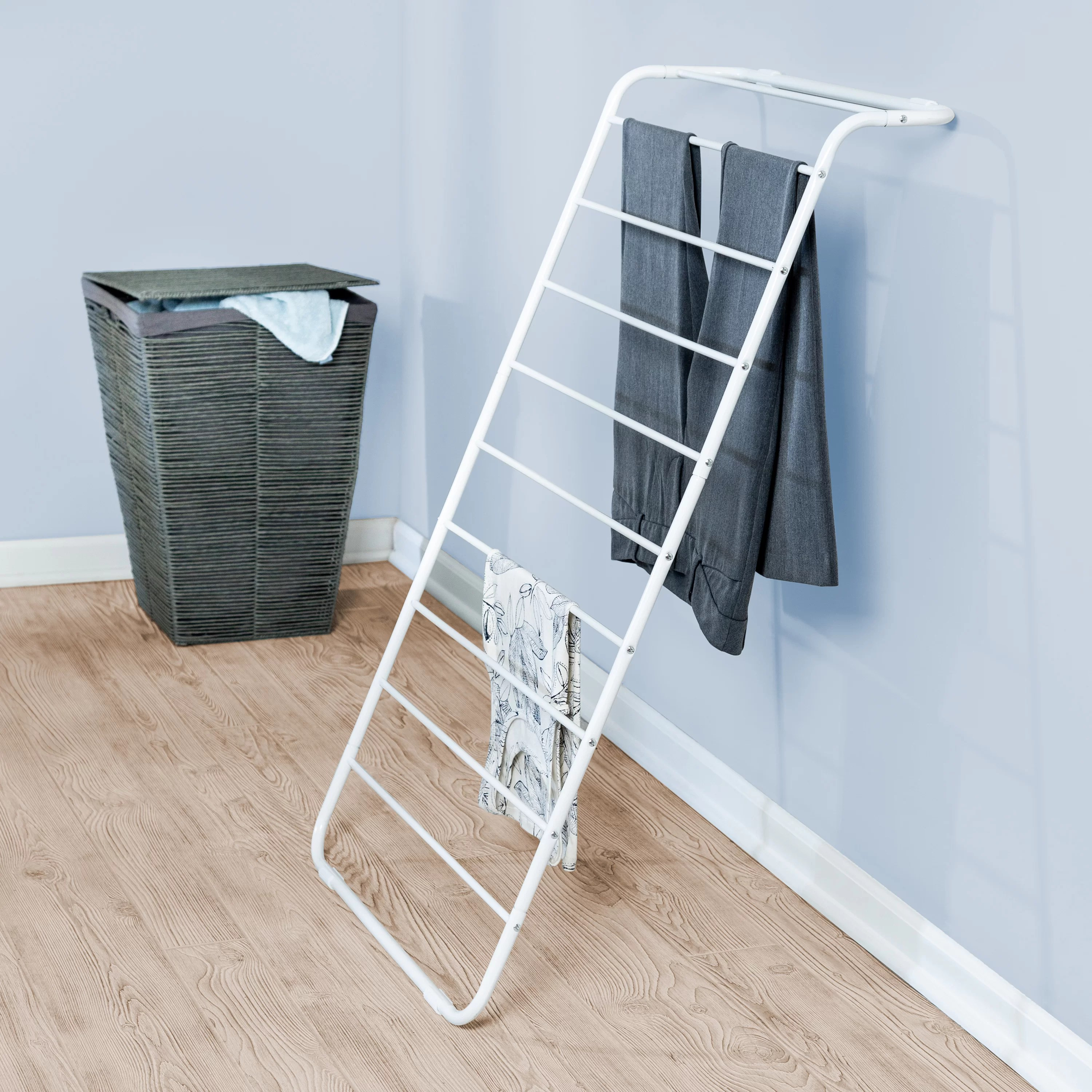 Rebrilliant Leaning Wall Mounted Drying Rack Reviews Wayfair