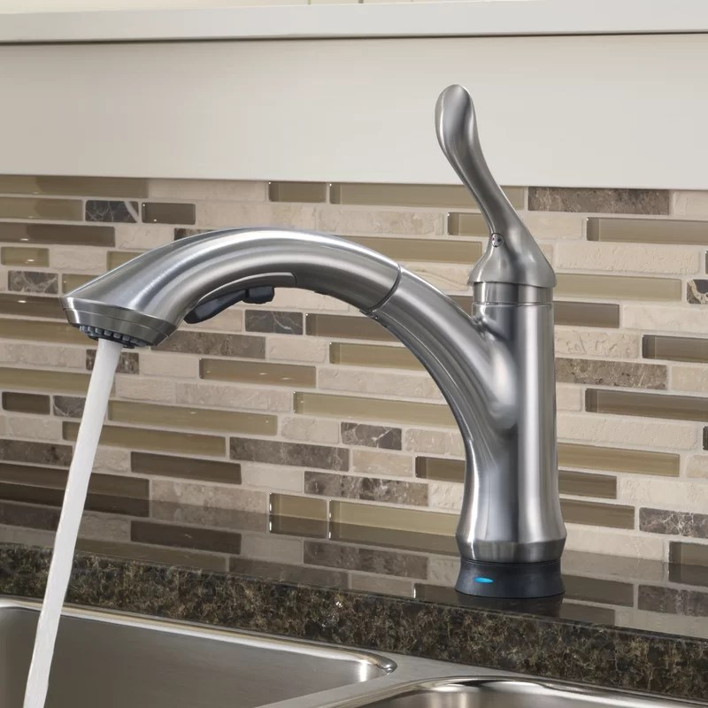 linden standard pull out touchless single handle kitchen faucet with touch2o technology and diamond seal technology