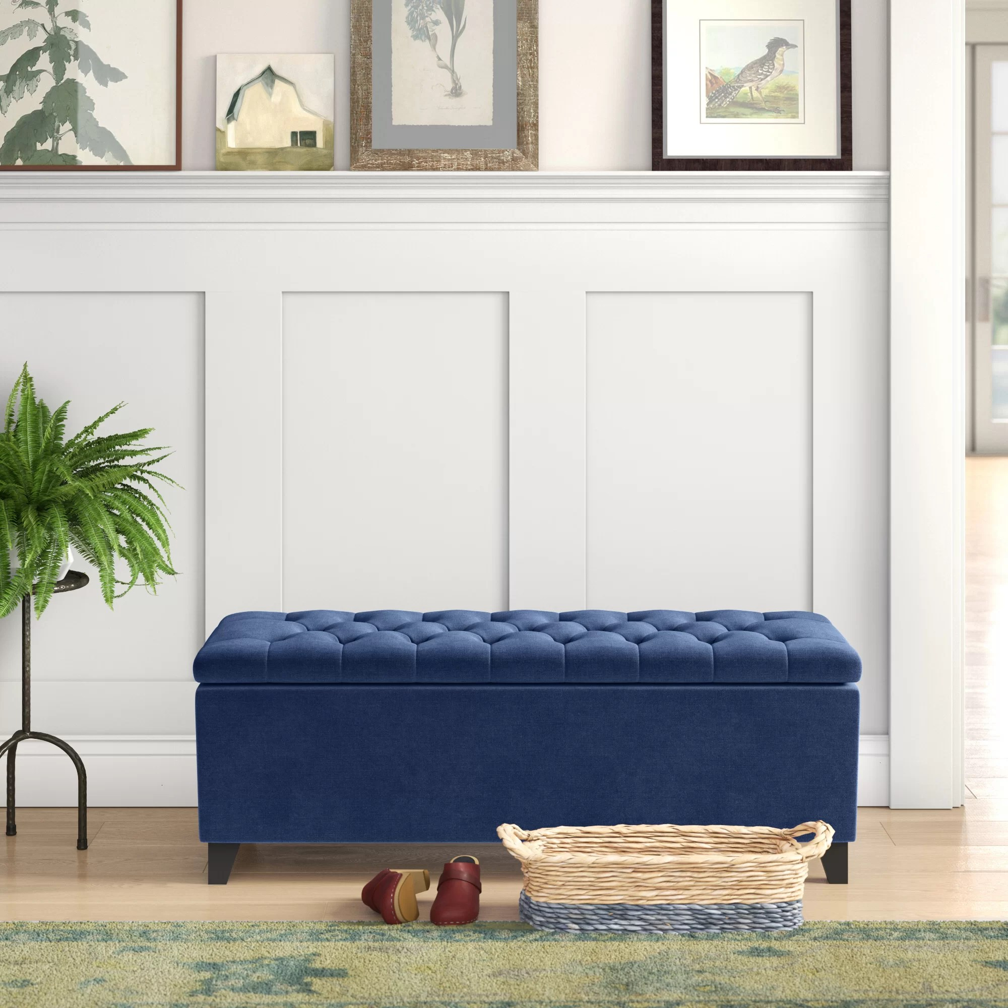 Joel Upholstered Storage Bench Reviews Birch Lane