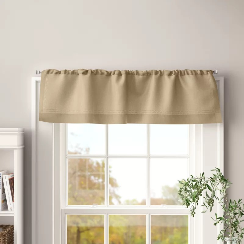 ramsey solid color tailored window valance
