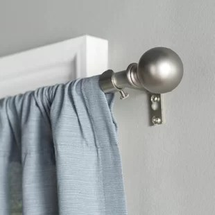 wayfair basics round single curtain rod