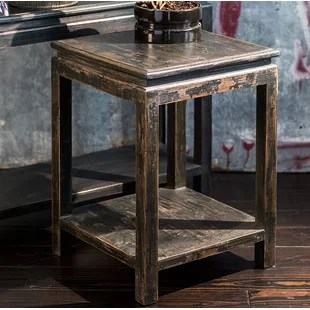 Lynelle Asian Pine End Table