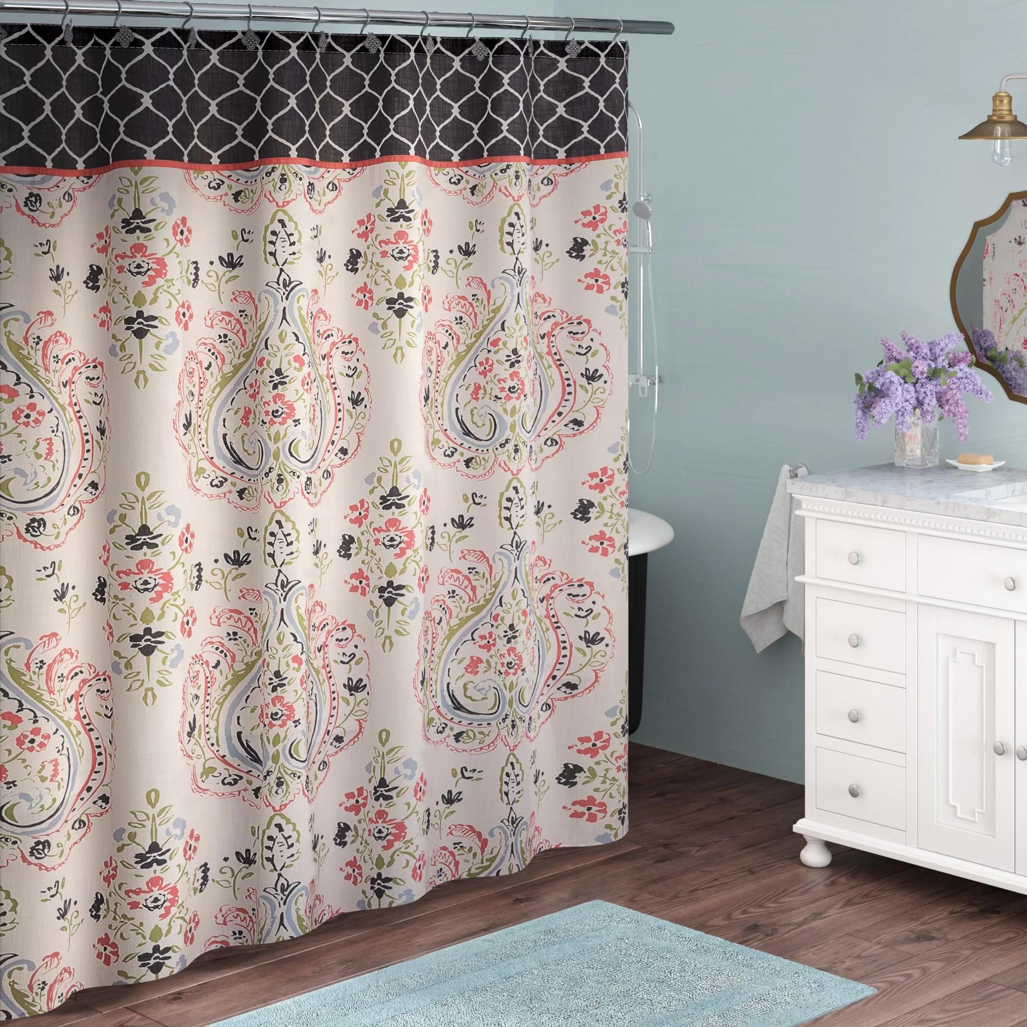 quinnes single shower curtain