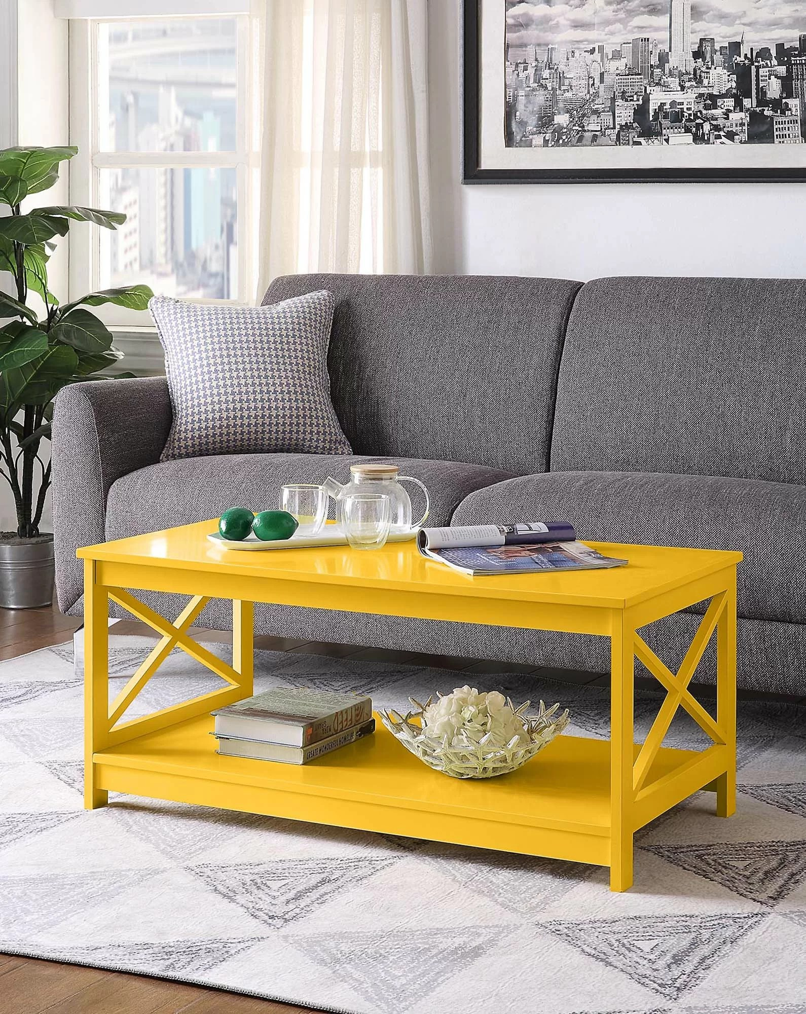 yellow coffee tables free shipping