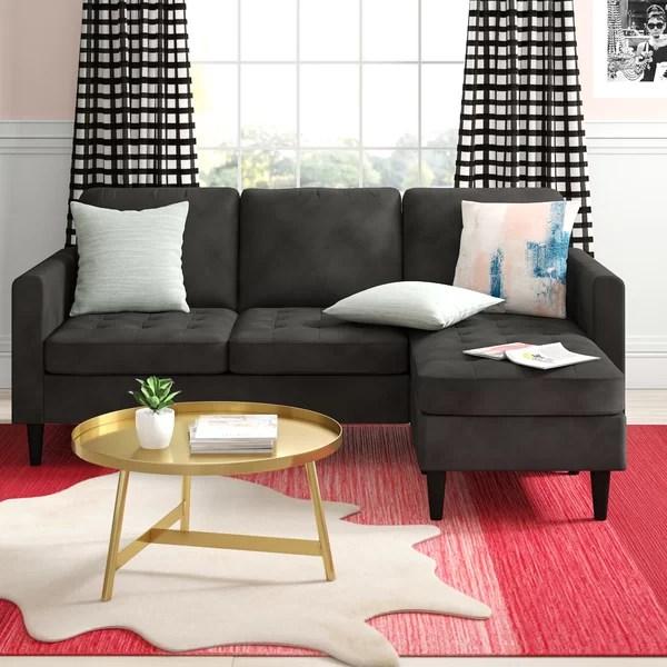 velvet sofa with chaise