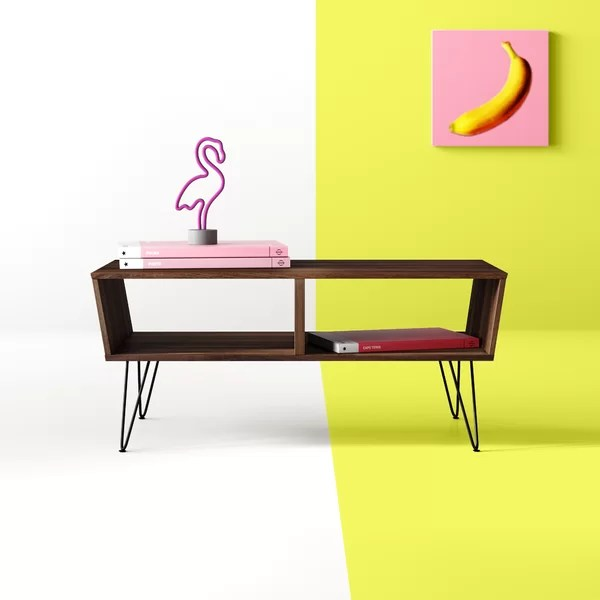 table with shelves underneath