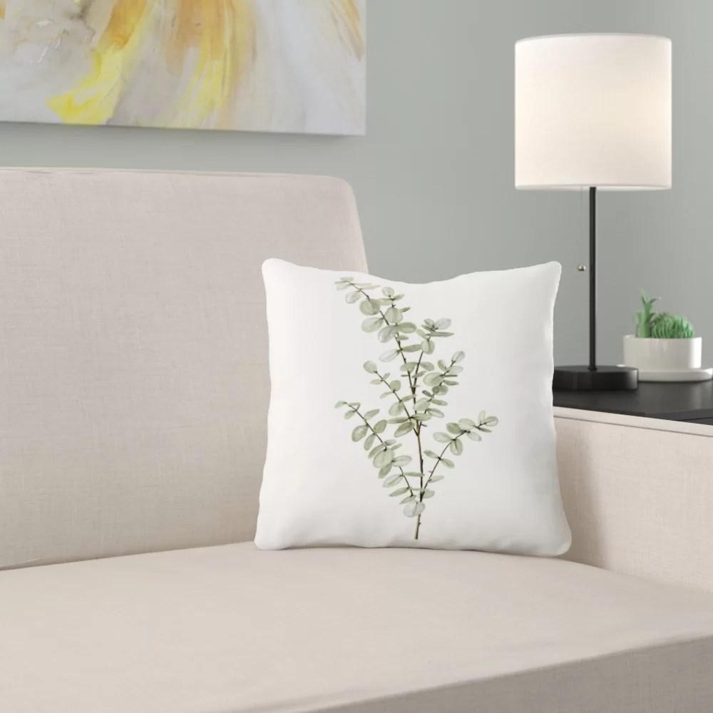 shealeen louise baby blue eucalyptus throw pillow cover