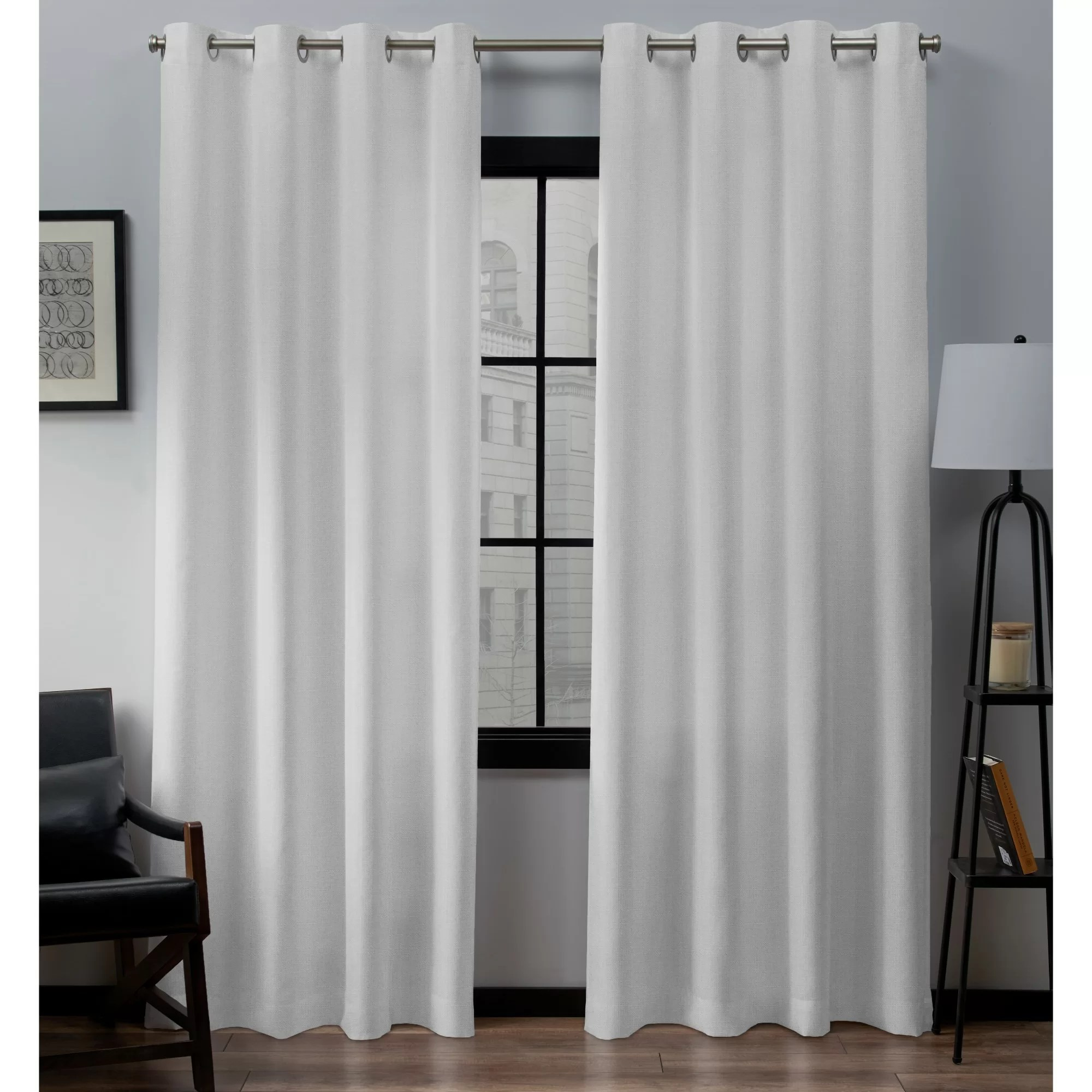 aaliyah solid color semi sheer grommet curtain panel