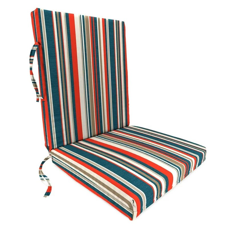 cambridge stripe polyester classic indoor outdoor rocking chair cushion