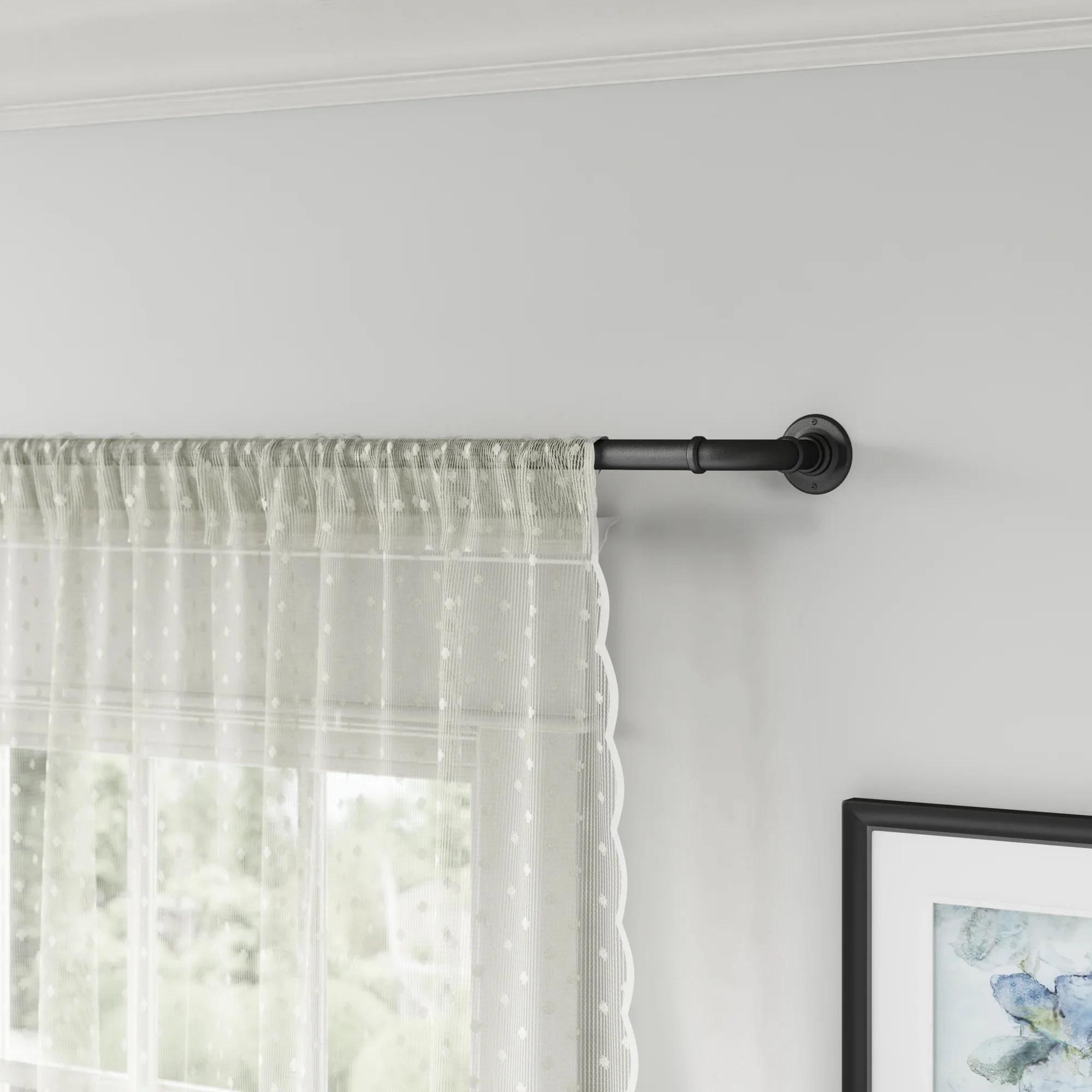 18 inch rod curtain hardware