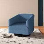 Allmodern Swivel Barrel Chair Reviews Wayfair