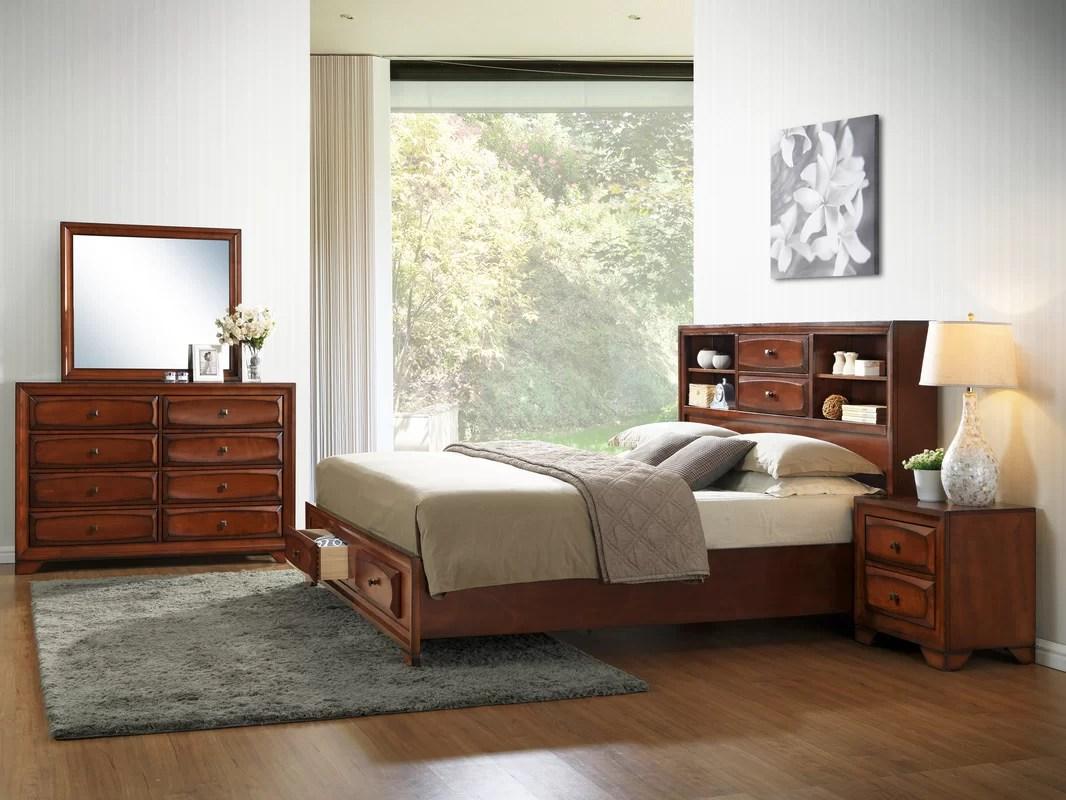 Roundhill Furniture Asger King Platform Bedroom Set