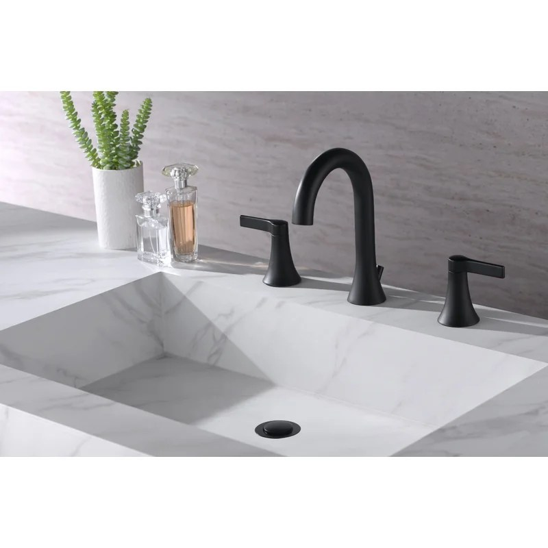 nita two handle widespread bathroom faucet with drain assembly