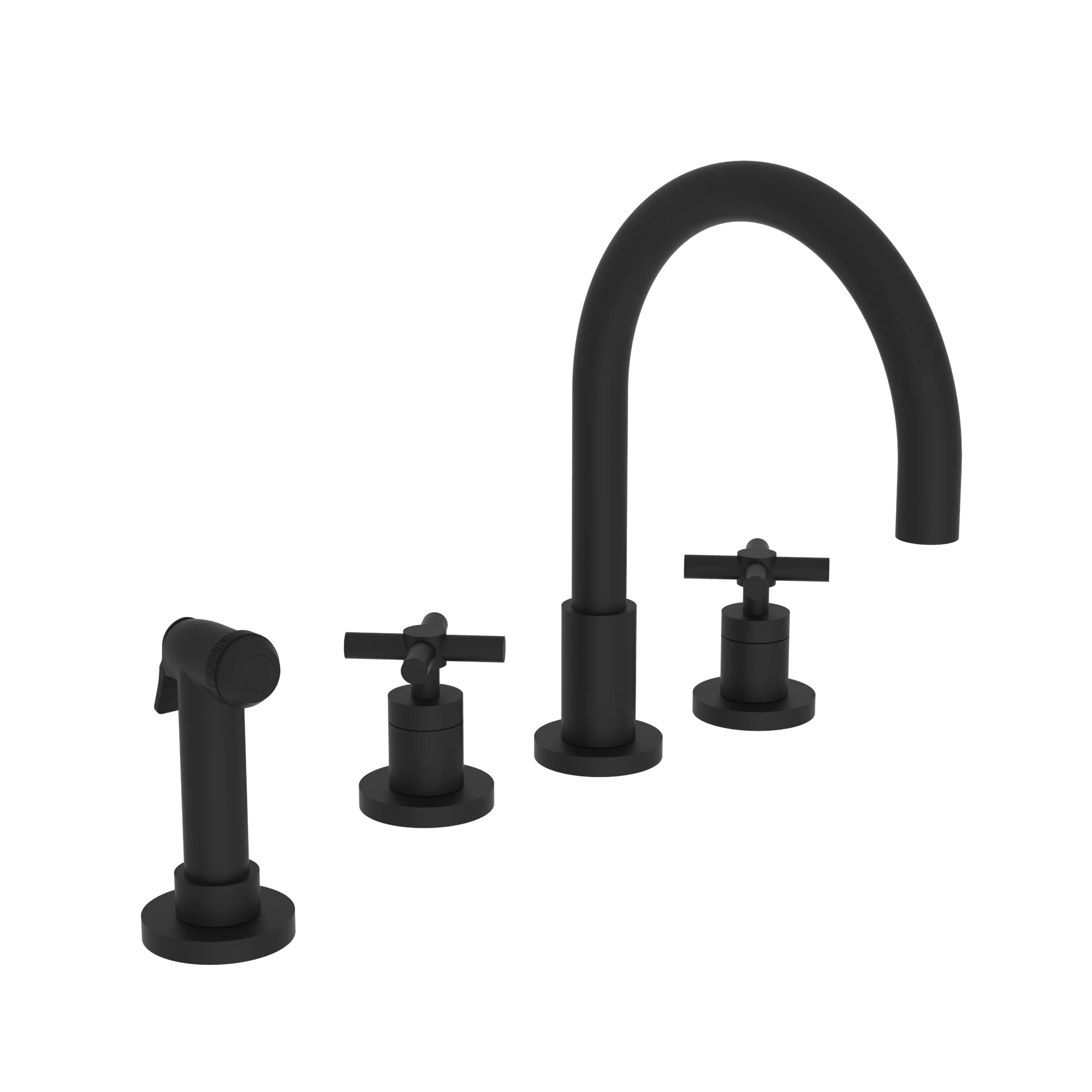east linear touch double handle kitchen faucet with side spray