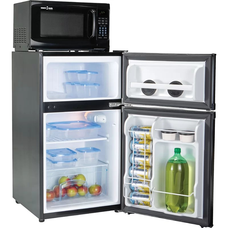 microfridge snackmate 3 1 cubic feet cu ft freestanding mini fridge with freezer and microwave