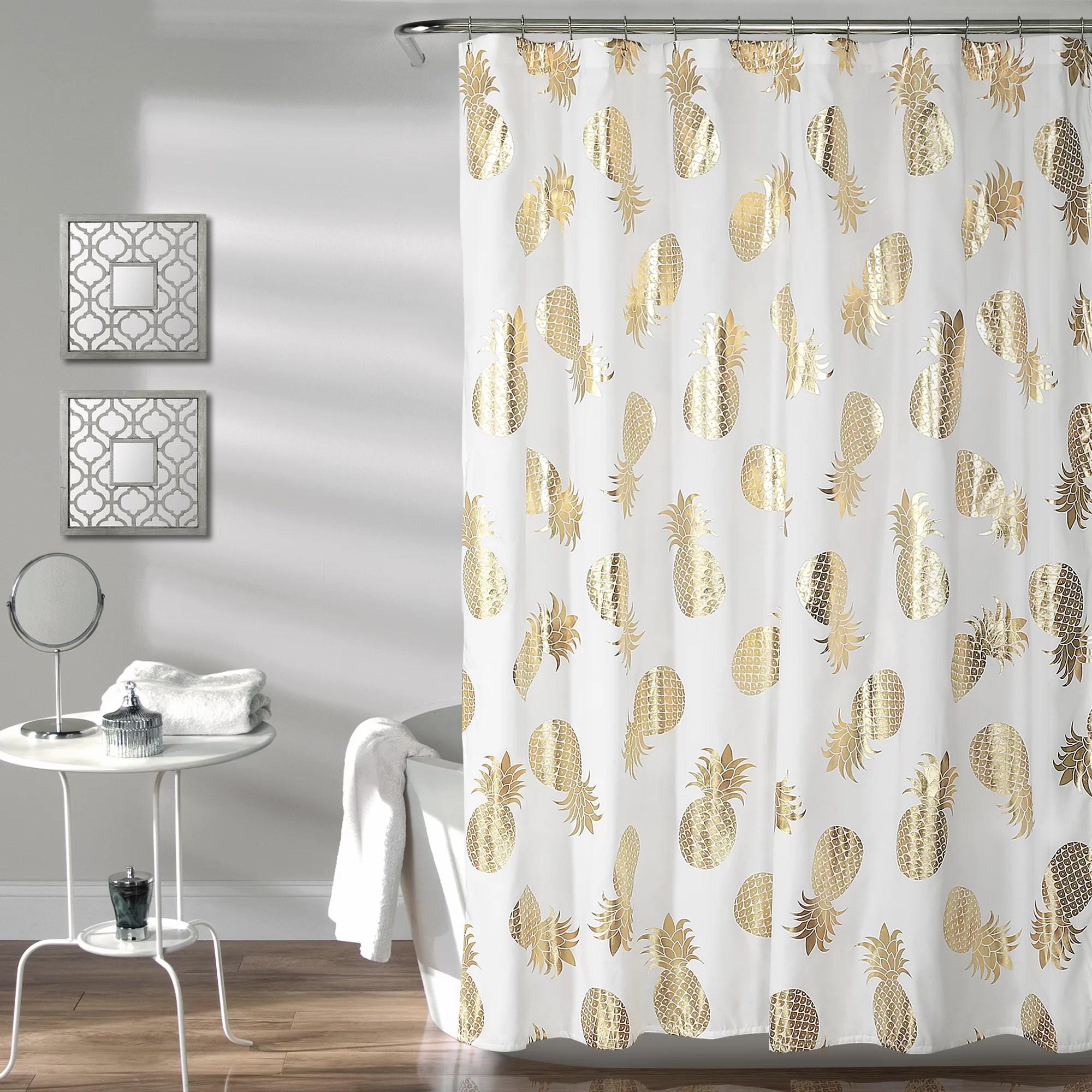 heinen pineapple toss single shower curtain