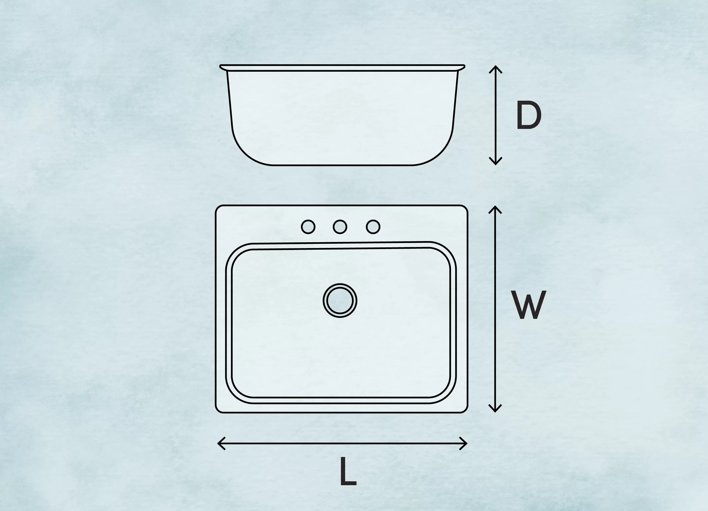how to measure a kitchen sink wayfair