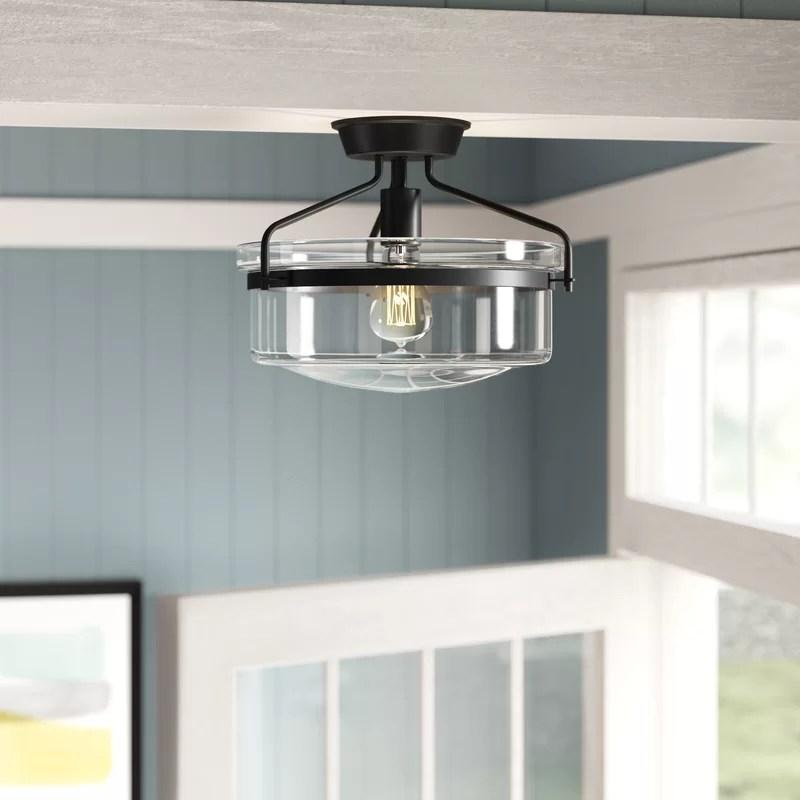 farmhouse flush mount ceiling light black