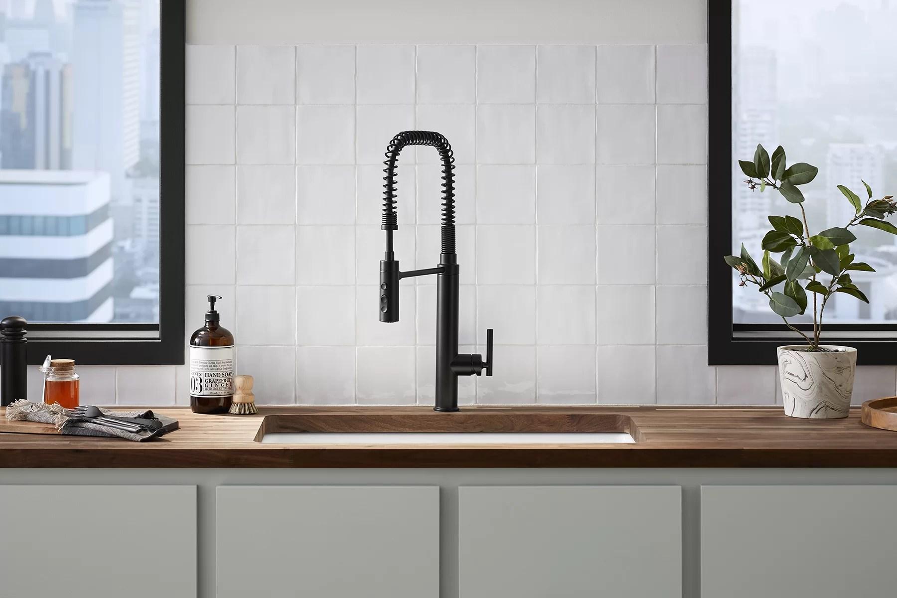 purist semiprofessional kitchen sink faucet