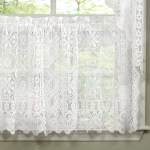 August Grove Floral Heavy Lace Cafe Curtain Reviews