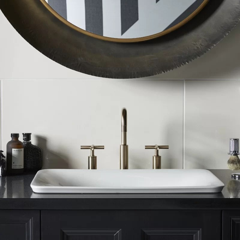 sartorial vitreous china rectangular vessel bathroom sink