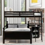 Harriet Bee Adelanto Twin Over Full L Shaped Bunk Bed