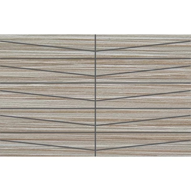bamboo oblong porcelain mosaic tile in gris linen