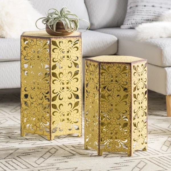 eclectic end tables