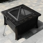 Fire Pit Pan And Burner 20 5 By 8 5 Inch Stainless Steel Durability Table Top