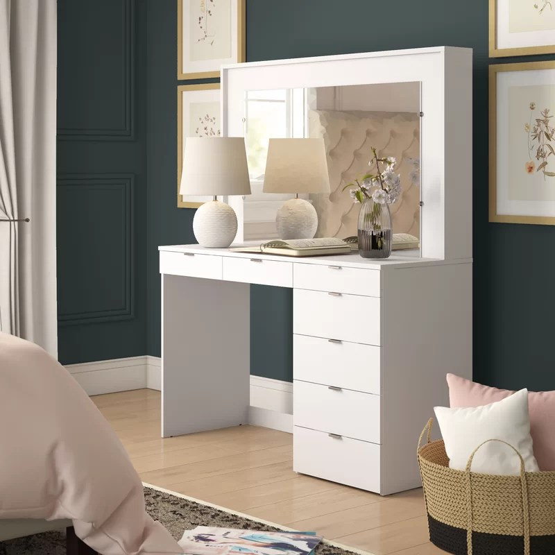 spurlin dressing vanity with mirror