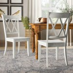 Thaddeus Solid Wood Cross Back Dining Chair Reviews
