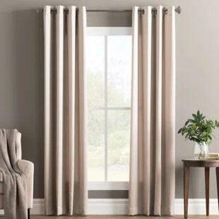 wayfair basics solid color room darkening grommet single curtain panel