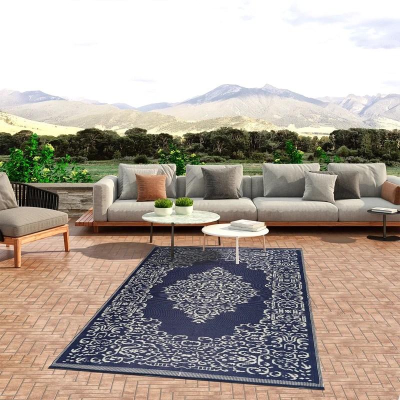 carlock oriental blue white indoor outdoor use area rug