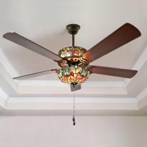 Flush Mount Ceiling Fans You ll Love   Wayfair 52  5 Blade Ceiling Fan with Remote