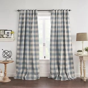 conor plaid blackout thermal single curtain panel