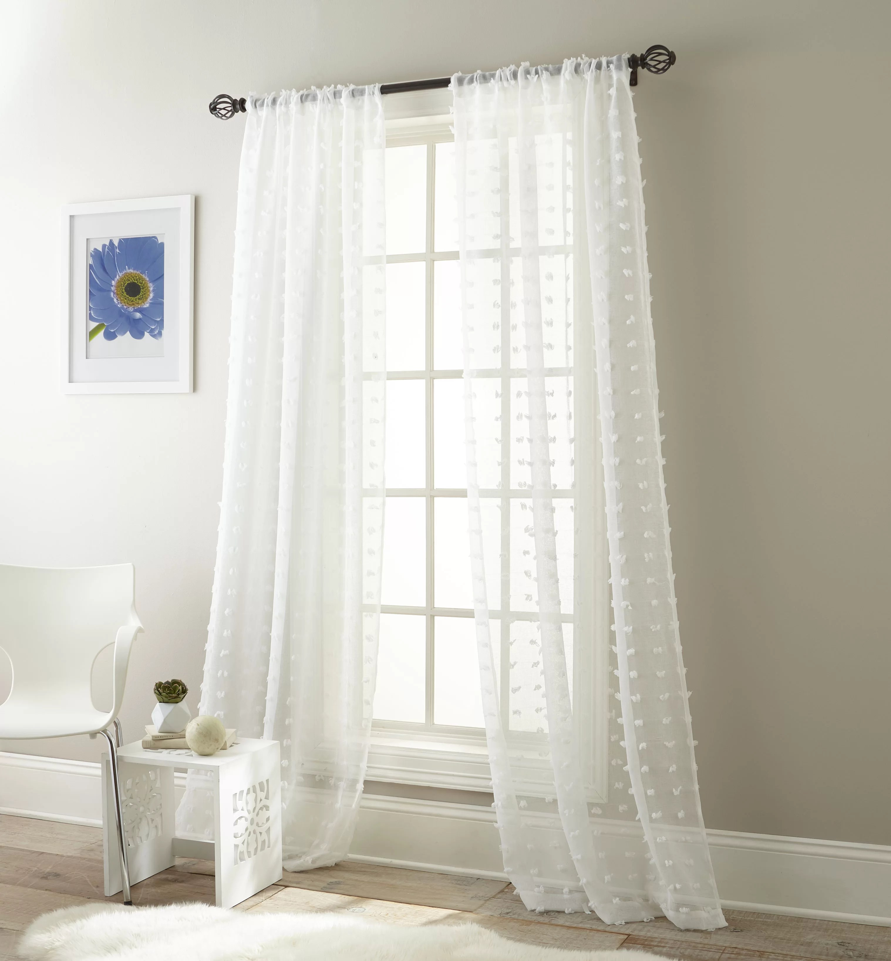 mistana aesara solid color sheer rod pocket curtain panels reviews wayfair