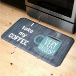 Erskine Coffee Very Seriously Oversized Premium Kitchen Mat
