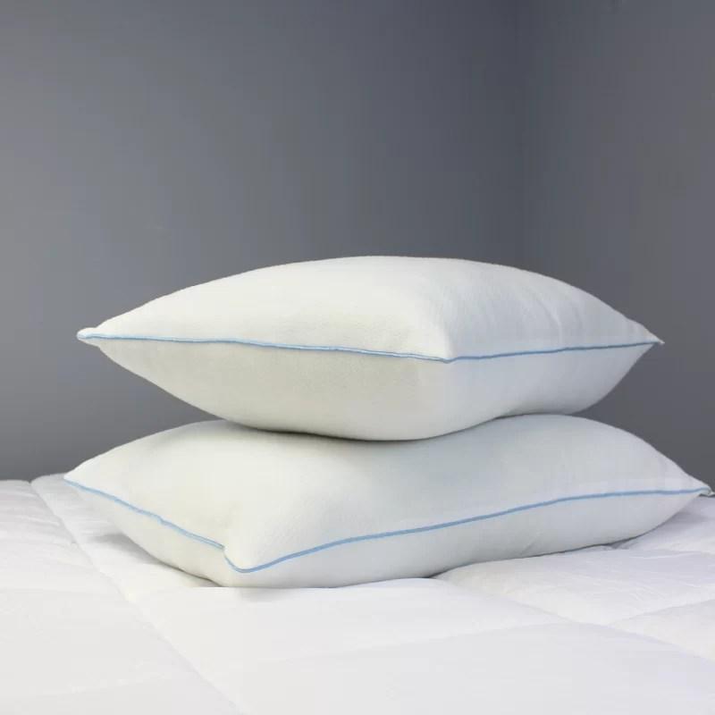 iso pedic tranquility fresh medium polyester jumbo bed pillow