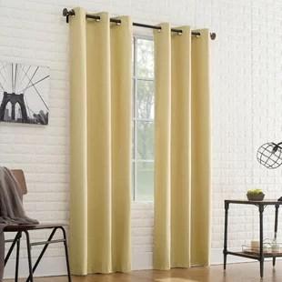 aledo solid room darkening thermal grommet single curtain panel