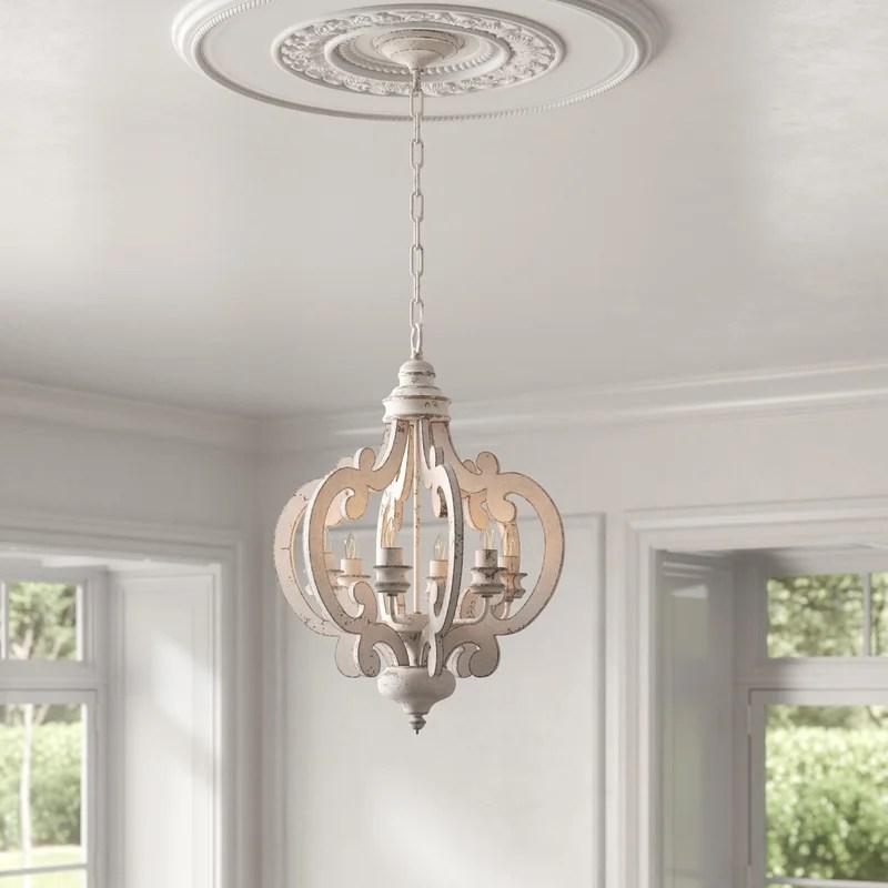 jarman 6 light candle style geometric chandelier