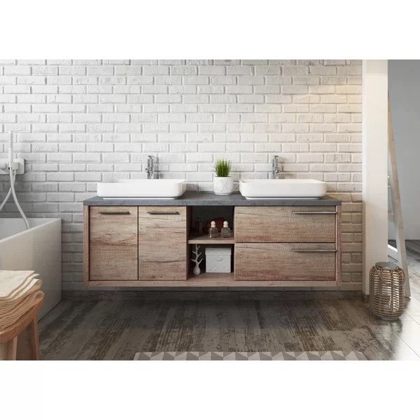 phillip 1500mm wall hung double vanity unit