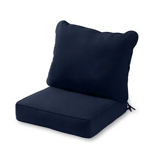 2 piece deep seat outdoor replacement cushion set